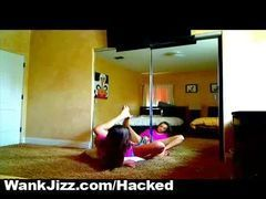 Namorada ninfo flagrada na webcam
