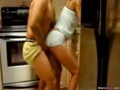 Foda rapidinha na cozinha