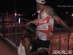 Sexo na ponte com rainha da bateria