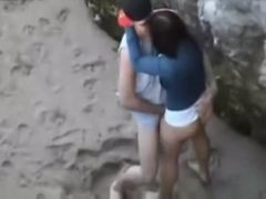 Flagra na areia da Praia